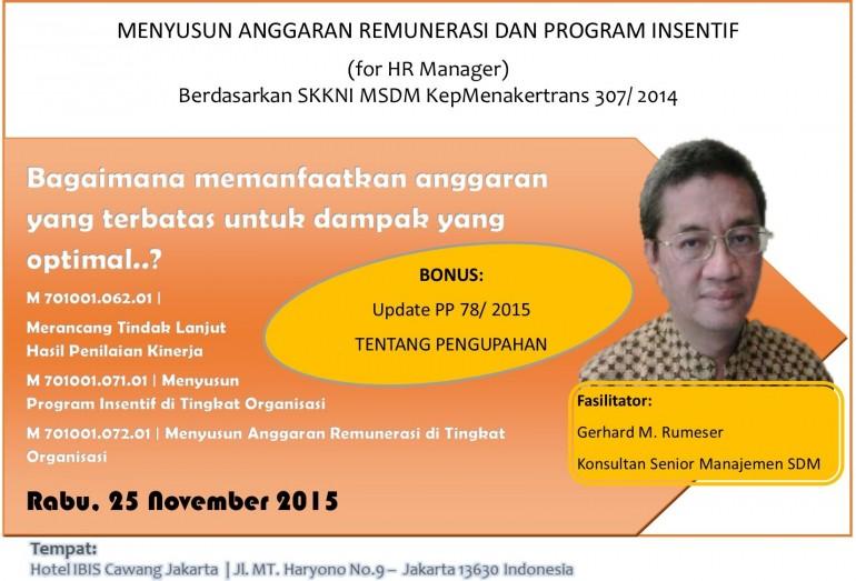 Anggaran Remunerasi dan Program Insentif