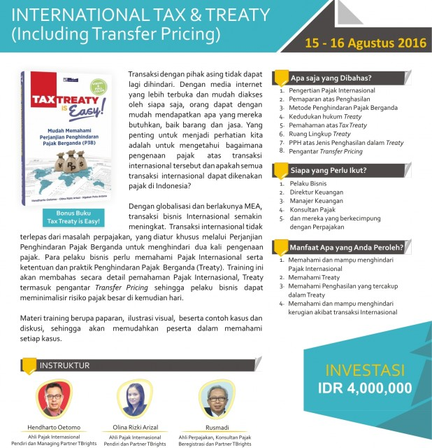 International Tax & Treaty (Including Transfer Pricing)