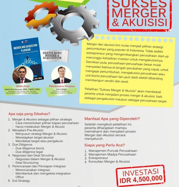 Training Sukses Merger & Akuisisi
