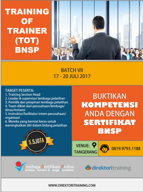 Training of Trainer BNSP