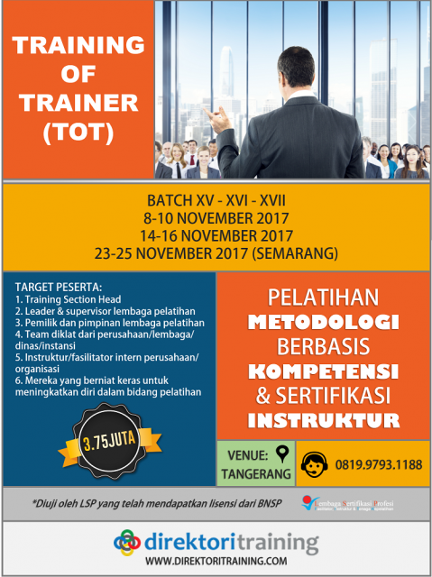 Training of Trainer BNSP - TOT