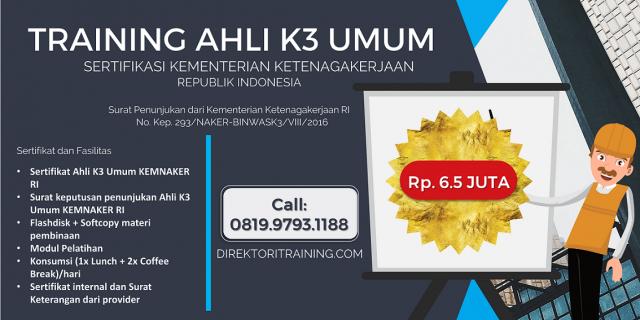 Trainng Ahli K3 Umum