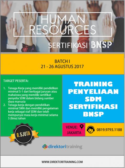 Training Penyeliaan SDM Sertifikasi BNSP