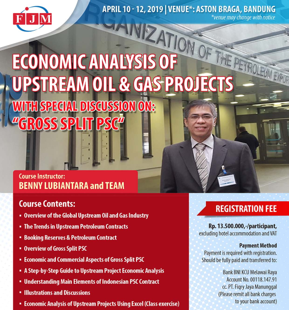 Training Economic Analysis of Upstream Oil & Gas Projects